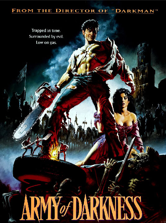 The Evil Dead Ash Williams Chainsaw Horror Movie Art Huge Print Poster TXHOME D7632