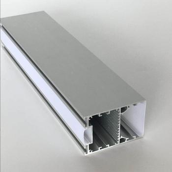 Бесплатная доставка Индивидуальные 6063 светодиодные полосы корпуса с родом, двухслойный алюминиевый большого размера профили для офисного ...