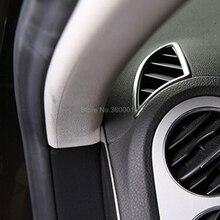 Для Volkswagen Tiguan 2009-2013 2014 2015 ABS Матовый автомобиль авто аксессуары кондиционер вентиляционная отделка внутренний кондиционер крышка