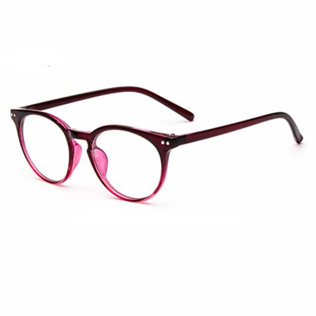 03d4143945a17 New Fashion Brand Glasses Frame Vintage Women Reading Eyewear Optical Men  Computer Glasses oculos de grau
