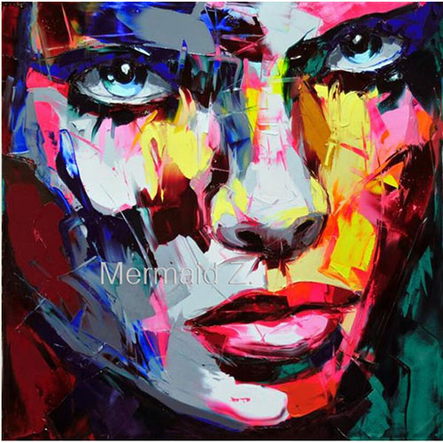Hand Painted Abstract Picture Modern Nielly Francoise font b Knife b font Palette Pop Art Oil
