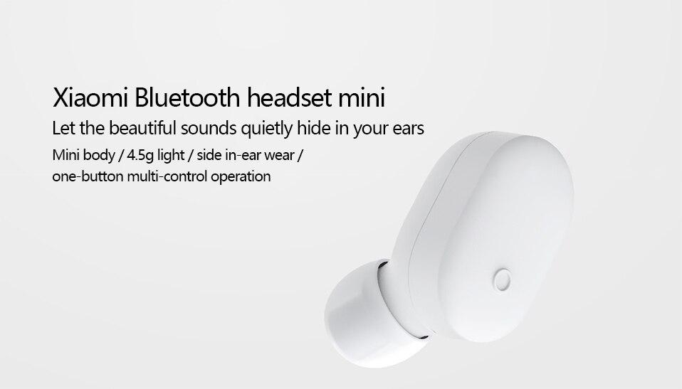 Original Xiaomi Bluetooth Earphone Mini In-Ear Wireless Earbuds (1)