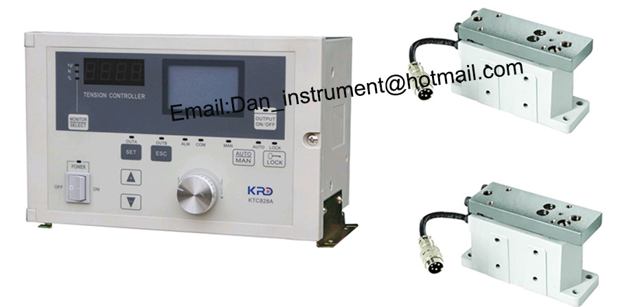 High quality Automatic tension controller KTC-828A with 2pcs tension loadcell can replace Mitsubishi tension controller haitai b 600 digital high precision automatic constant tension controller for printing and textile