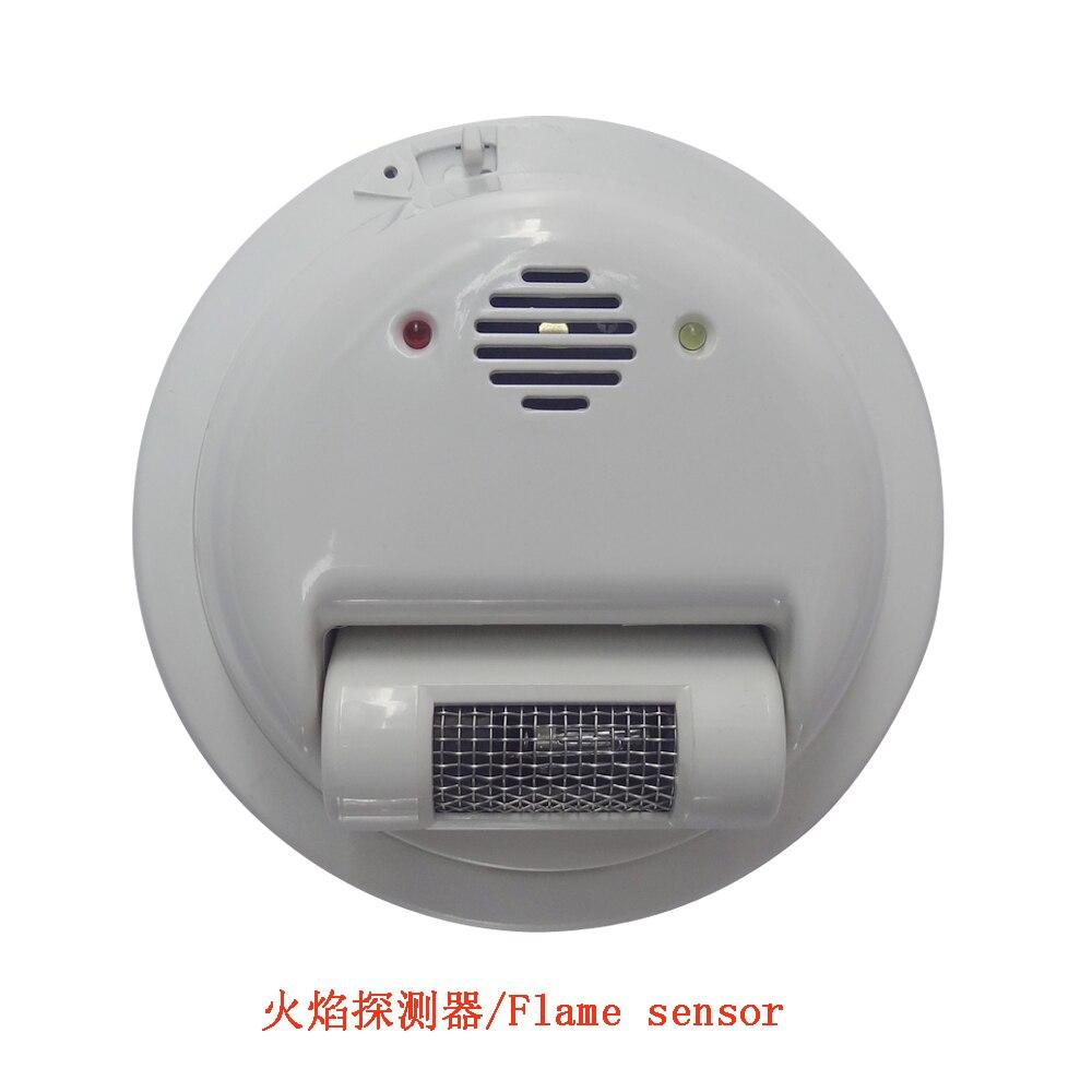 (1 PCS) 2000E Fio sensor de Alarme de Incêndio detector de Chama Ultravioleta raios Detector Home security protection NC/NO relé de saída do sinal