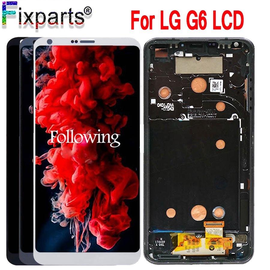 100% testé écran d'origine 5.7 pouces pour LG G6 LCD écran LCD avec écran tactile numériseur assemblée pièces de rechange