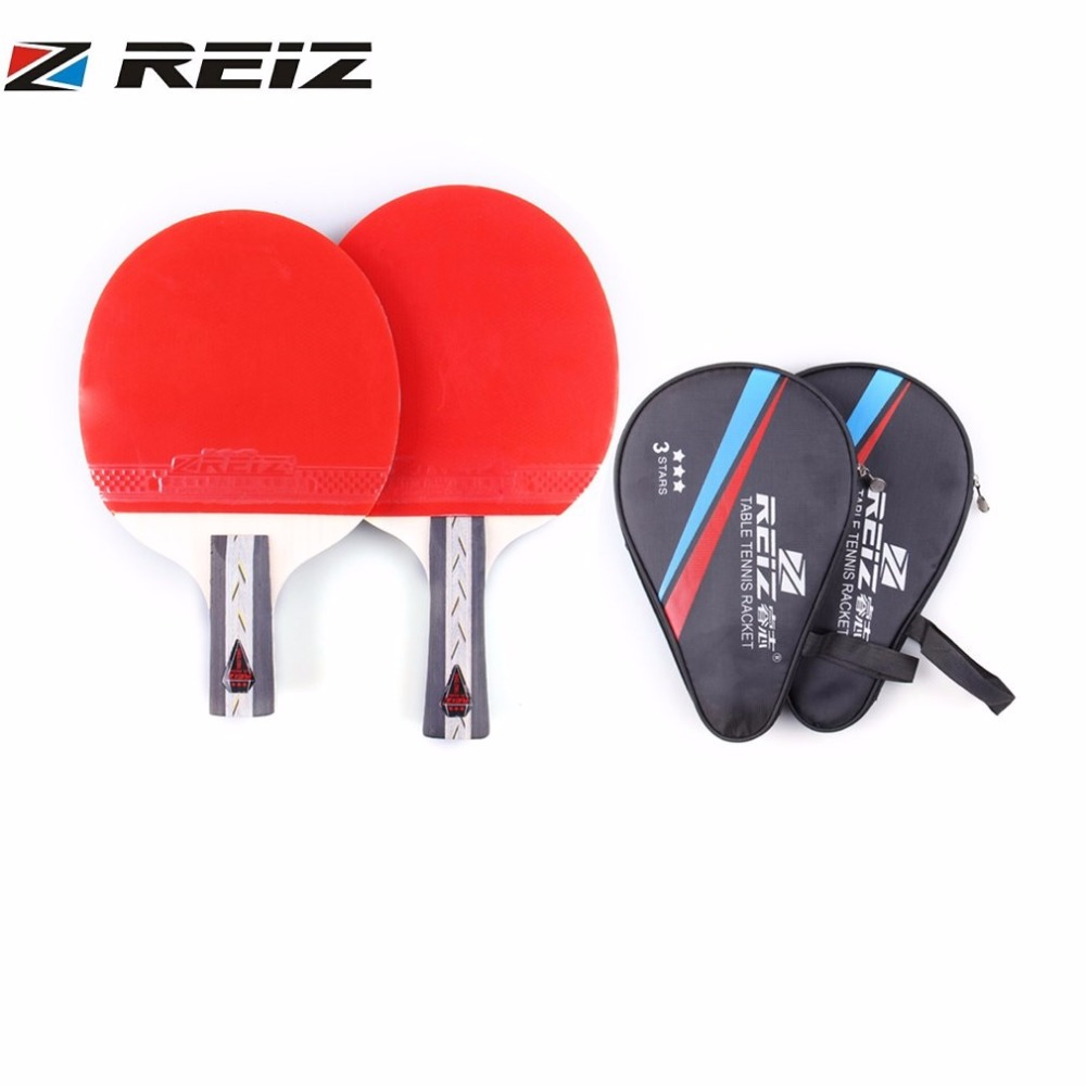 Reiz Table Tennis Racket 3 Stars Ping Pong Paddle Short Or Long Diagram Parts Of A Racquet Beginners Guide With Handle Shake Hand For Match Training In Rackets From Sports