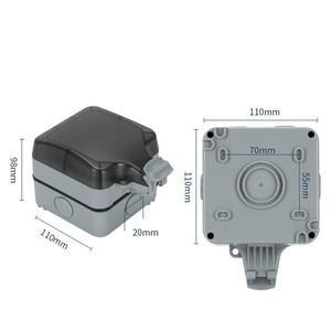 Image 4 - IP66 waterproof socket Multi function five hole Waterproof Outdoor Wall Power Socket 16A Standard Electrical Outlet Grounded