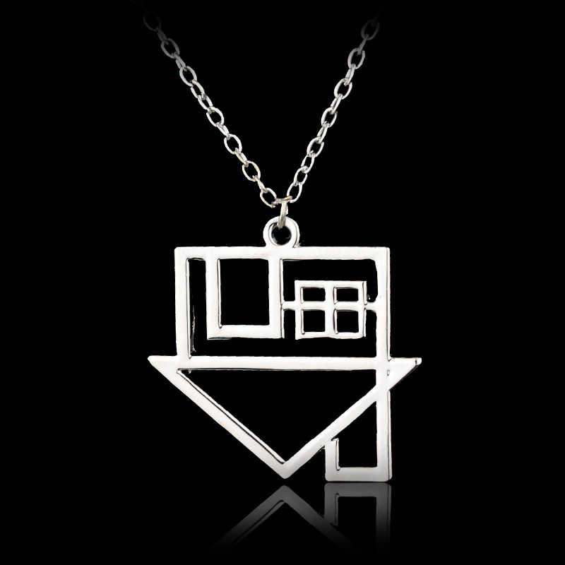 블랙 베일 신부 목걸이 블랙 베일 신부 BVB 로고 스테인레스 스틸 쥬얼리 목걸이 Emo Steampunk 고딕 밴드 Merch 목걸이