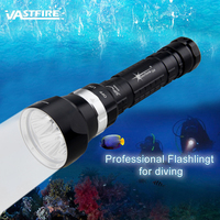 SolarStorm LED 1200Lm Waterproof 4xXML L2 Scuba Diving Flashlight Torch Light 100M With 26650 Battery +charger