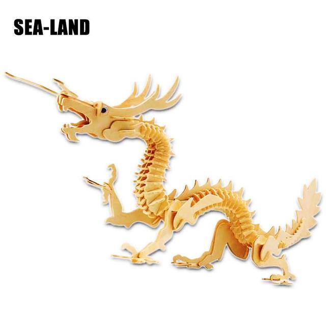 Jouets Pour Enfants 3D Puzzle bricolage Puzzle en bois Animaux Magiques jouets pour enfants Également Adapté Adulte Jeu Meilleur Cadeau De qualité supérieure Bois