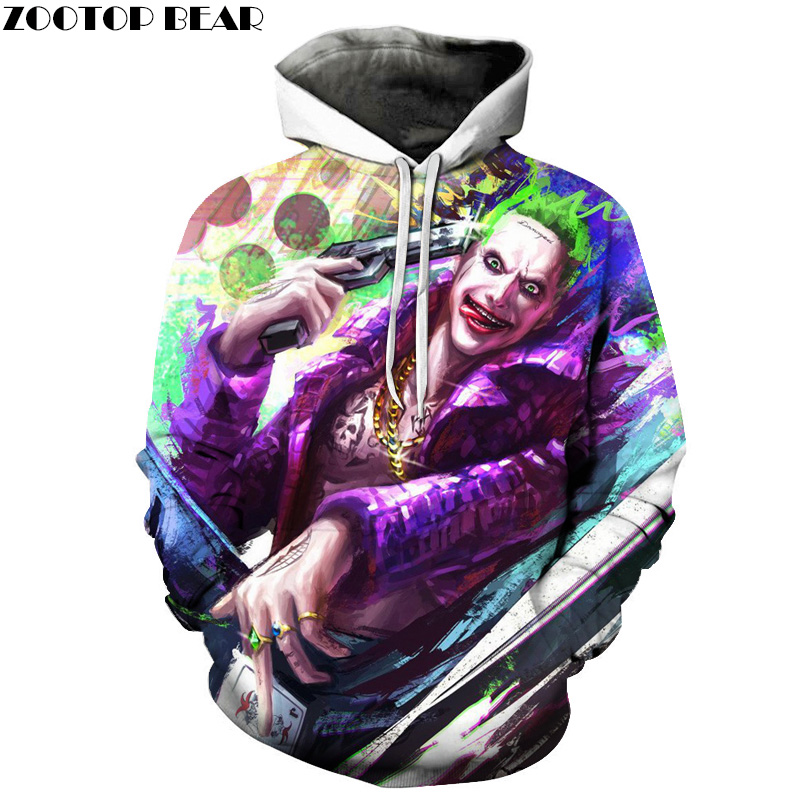 Suicide Squad Joker 3D Hoodies Men Women Sweatshirts Badass Funny Printed Pullover Autumn Winter Brand Tracksuits Boy Hoodies