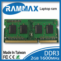 SO DIMM1600Mhz PC3 12800 204 Pin CL11 1 5v Laptop Memory Ram1x2GB DDR3 High Compatible With