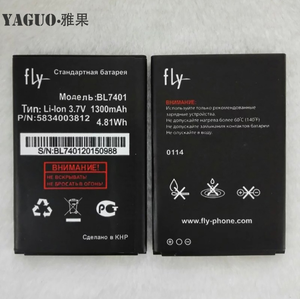 High Quality For <font><b>FLY</b></font> IQ238 IQ 238 <font><b>BL7401</b></font> BL 7401 New Mobile Phone Lithium Original 1300mAh Battery Replacement Parts image