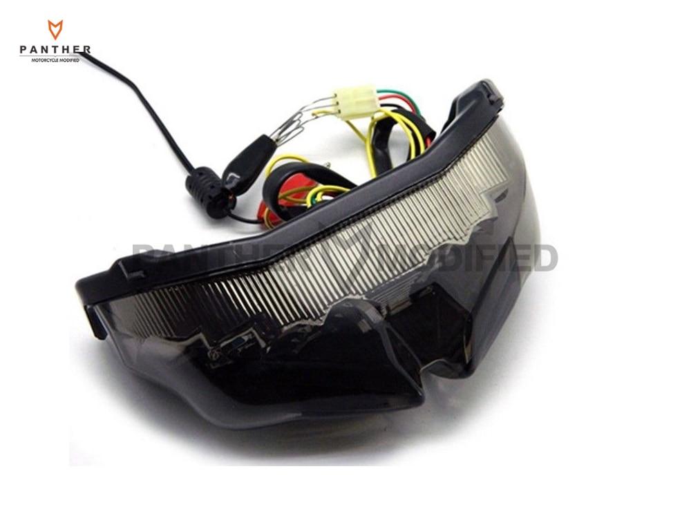 1 pcs smoke motorcycle led turn signals brake tail light. Black Bedroom Furniture Sets. Home Design Ideas