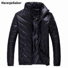 NaranjaSabor 2017 Winter Warm Parkas Men's Coats Autumn Thick Mens Jackets Male Overcoats Casual Outwear Mens Brand Clothing 5XL