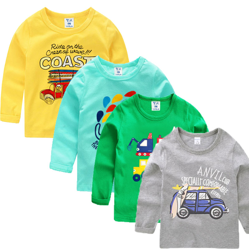 V-TREE Boys Shirts Spring Autumn T-shirt For Girl Cartoon Girls Tops Cotton Children Tee Baby Clothing v tree new fashion 2017 spring baby girl shirts cartoon boys girls t shirt long sleeve children t shirts kids shirt girls tops