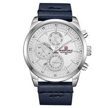 Naviforce luxo relógio de pulso dos homens do esporte à prova dmilitary água militar exército moda banda couro quartzo masculino relógio relogio masculino