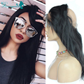 360 Full Lace Band Frontal Closure Indian Virgin Hair Straight 7a Human Hair Lace Frontals With Baby Hair Natural Hairline