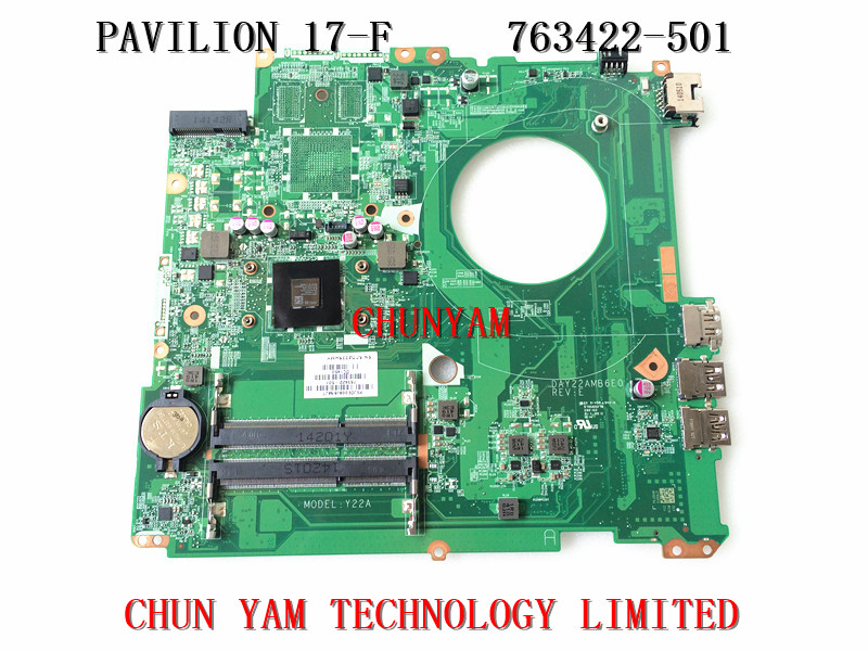 ФОТО 763422-501 FOR HP PAVILION 17-F series Laptop Motherboard DAY22AMB6E0 REV:E A8-6410 Mainboard 90Days Warranty 100% tested