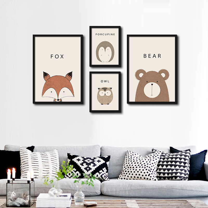 Popular owl poster buy cheap owl poster lots from china for Cute cheap home decor