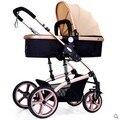 Высокая пейзаж коляска может сидеть может лежать коляску сложить двусторонняя подвеска детская коляска bb детские тележки