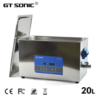 GT SONIC R20 Digital Degassing Ultrasonic Cleaner Bath 20L Household Jewelry Laboratory Industrial Parts Professional Cleaning