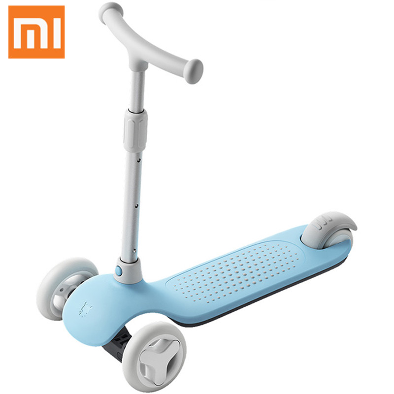 Xiaomi Mitu Scooter Kids 3 Wheels Multiple Security Protection Double Spring Gravity Steering System For Children Led adjustable max length retractable 2m 7ft usb 2 0 a male to mini usb b 5pin male curl coiled spring data sync charge cable cord