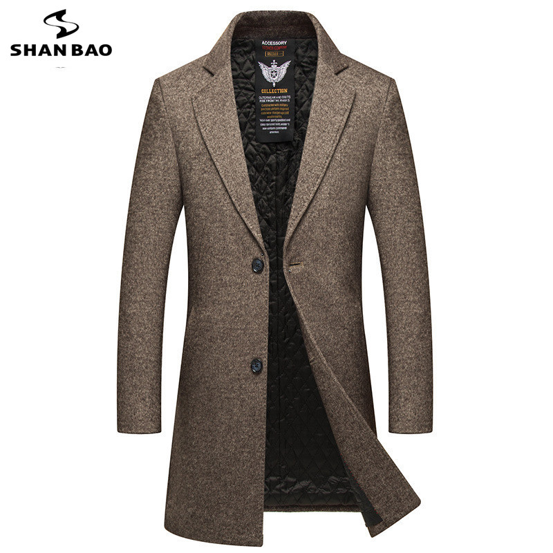 2018 winter new style luxury high quality thick warm long wool coat British style fashion gentleman men's slim fashion coat