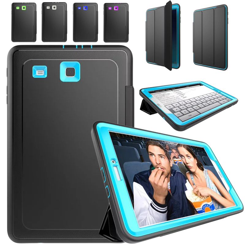 For Cover Samsung Galaxy Tab E 9.6 SM-T560 T561 Retina Kids Safe Armor Shockproof Heavy Duty Silicone Hard Case Cover планшет samsung galaxy tab e 9 6 8gb 3g black sm t561