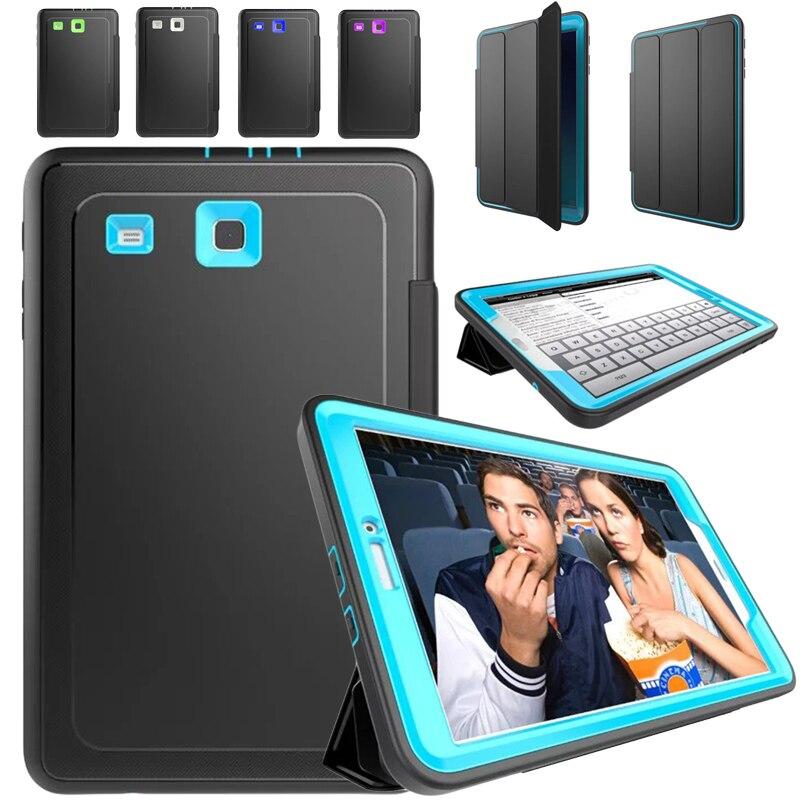Pour la Couverture Samsung Galaxy Tab E 9.6 SM-T560 T561 Retina Kids Safe Armure Antichoc Heavy Duty Silicone Housse Dur