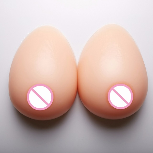 1400g/pair Mastectomy Artificial Silicone Fake boobs For Crossdressers And Transvestites Silicone Breast Forms 38DD/40D/36E 3XL