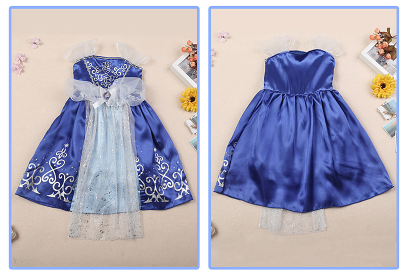 8ce0c4df3 2018 Girls Summer Dress Kids Cindrella Snow White Cosplay Costume ...