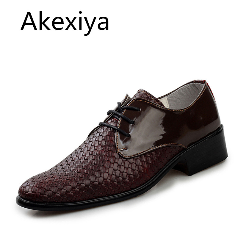 Avocado Store Akexiya New 2017 Mens Shoes Casual PU Leather Lace Up Fashion Men Shoes