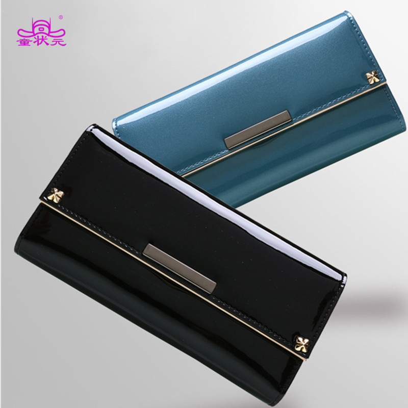 Women Wallets Brand Design High Quality Split Leather Wallet Female Hasp Fashion Dollar Price Long Lady Purse