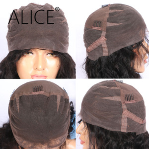 Image 5 - ALICE Kinky Straight Lace Human Hair Wigs With Baby Hair Pre Plucked Remy Hair Glueless Human Hair Wig Yaki For Black Woman
