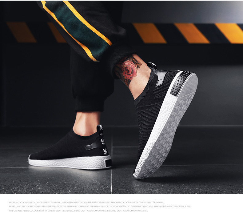 HTB1ZdQHznJYBeNjy1zeq6yhzVXa6 Thin Shoes For Summer White Shoes Men Sneakers Teen Shoes Without Lace Trend 2019 New Feel Socks Shoes tenis masculino chaussure