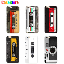 Retro phone camera tape Consoles Calculator glitter carcasa Case For iPhone 6 6s Printed soft Back Cover for iphone 6 Plus 5S se
