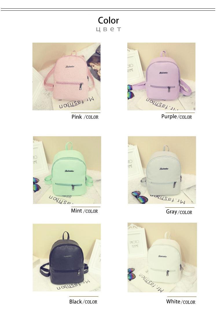 HTB1ZdQOJ1uSBuNjy1Xcq6AYjFXaM 2019 New Backpack Summer Small Women Backpack Candy Color Student Travel Shoulder Bags Teenager Girls Female Mochila Bagpack