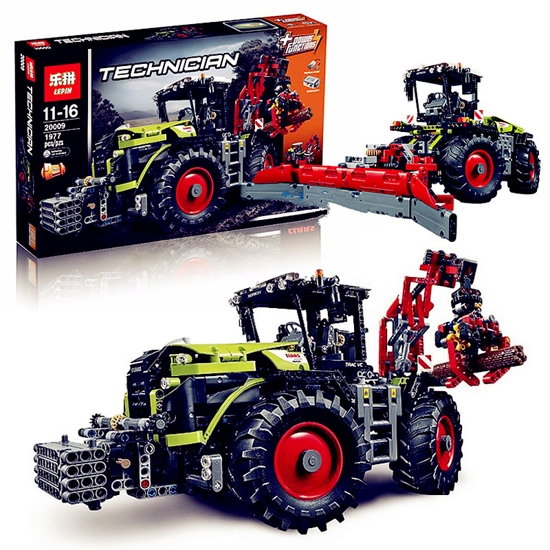 IN STOCK New 1977Pcs Lepin 20009 Technic Ultimate Series Mechanical Heavy Tractors Building Blocks Bricks Toys 42054