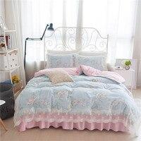 100%Cotton Lace edge Kids Girls King Queen Twin size Bed skirt set Bedding set Princess bed set Duvet/Quilt cover Pillow shams
