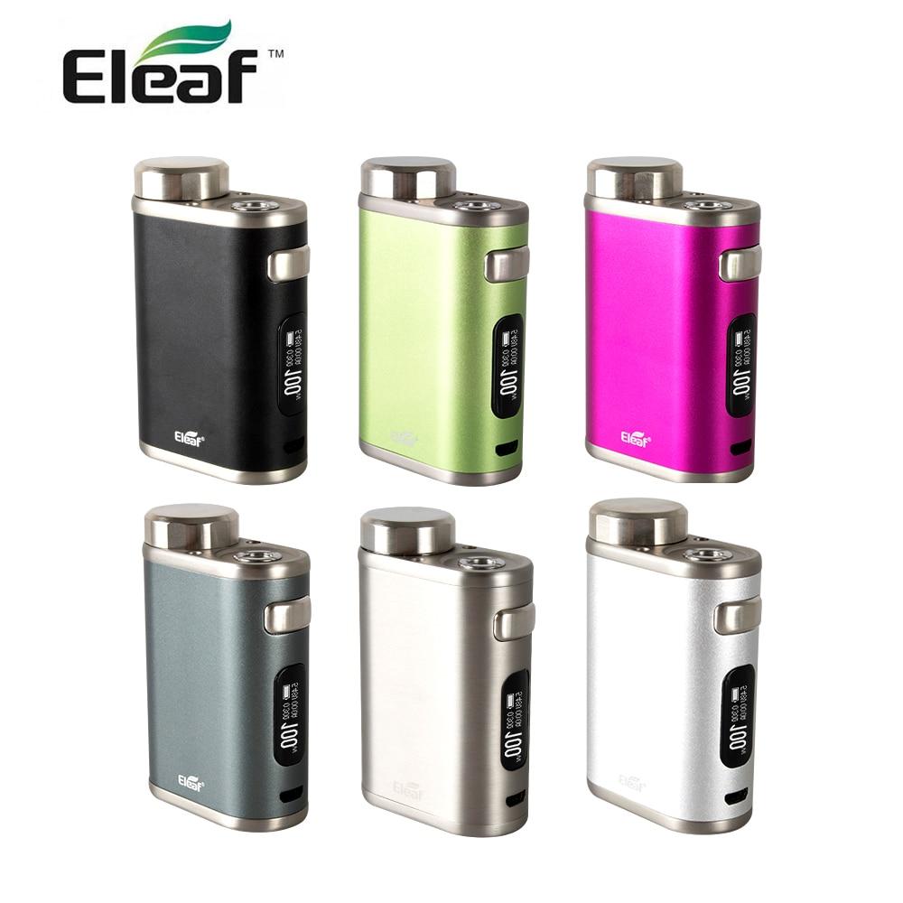 USA entrepôt d'origine Eleaf iStick Pico 21700 Mod 100 W mod boîte compatible avec 21700/18600 batterie VW/dérivation/TC (Ni/Ti/SS/TCR)