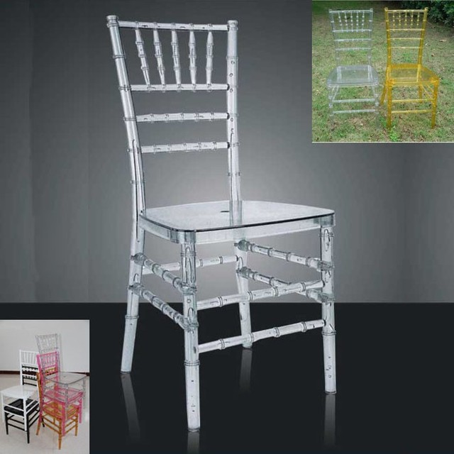 Free Shipping By Sea 100pcs Crystal Acrylic Wedding Chair Supply Transpa Clean Chairs