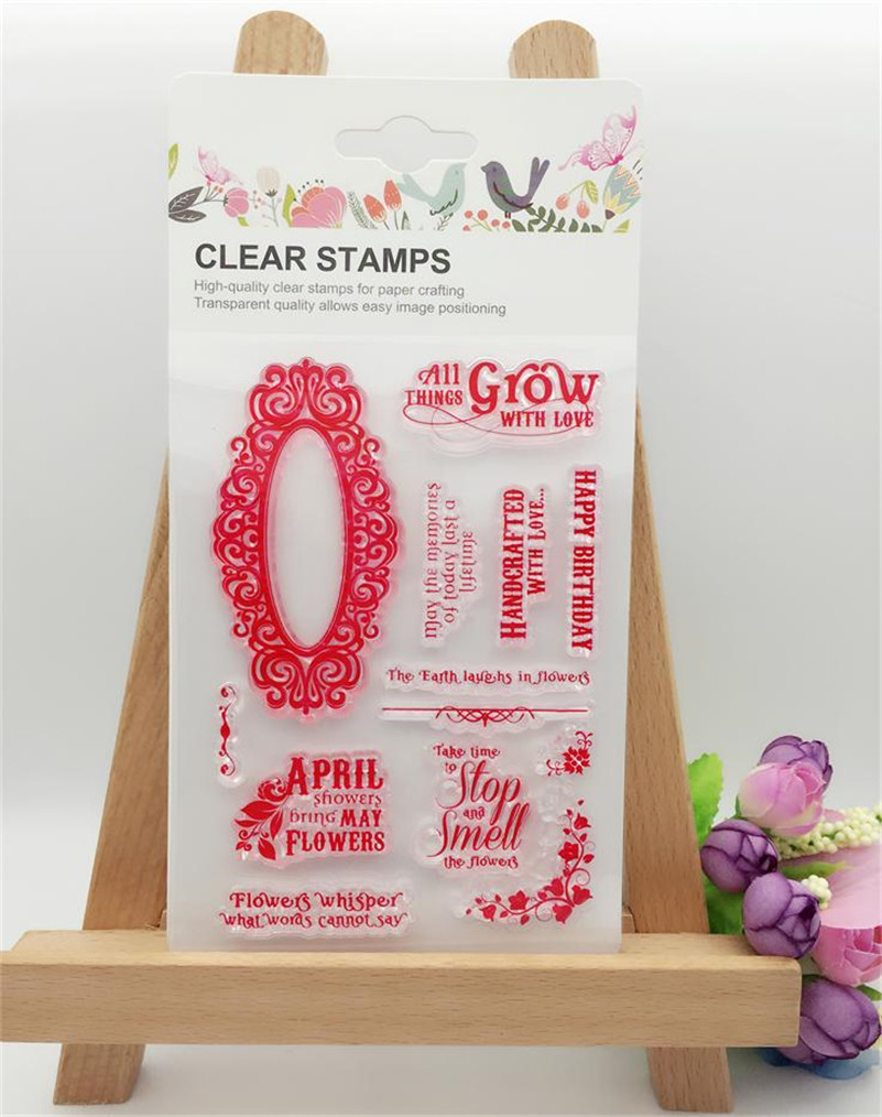 all thing grows with love stamp silicone DIY Transparent Clear Stamp Paper Craft Photo Album Scrapbooking paper Card LL-187 lovely animals and ballon design transparent clear silicone stamp for diy scrapbooking photo album clear stamp cl 278