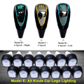Automatic Auto Touch Activated Gear Shift Knob 5 6 Speed Car Logo LED Gear Handball Shift Knob Light Cigarette Lighter Charger