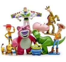 Disney Toy Story 3 Woody Buzz Lightyear Jessie Bolt acción PVC figure Juguetes  para niños Muñecas 9 unids set cumpleaños regalo c340f30b586