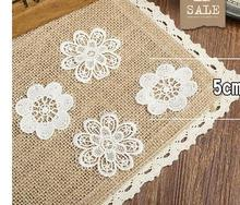 High quality lace cloth labeling Brooch handmade accessories solid flower patch DIY