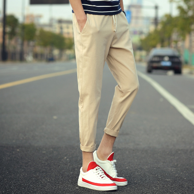 NEW 2019 Spring summer men 39 s casual pants teenagers youth hip hop elastic waist Drawstring harem Ankle Length pants male in Harem Pants from Men 39 s Clothing