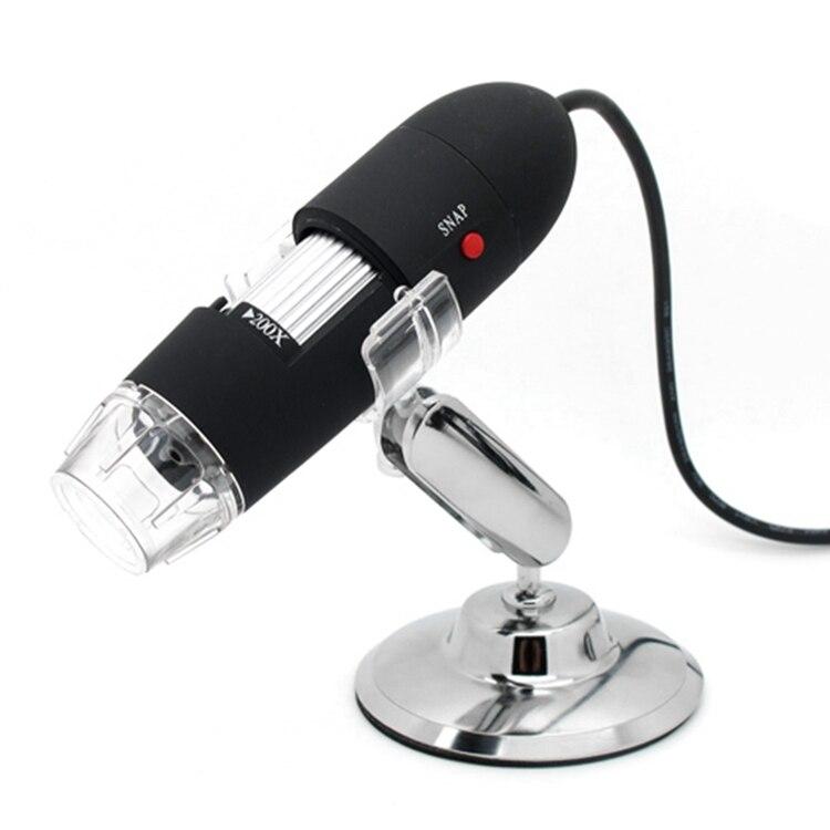ffb5362d9c97b HD USB Microscópio Digital 800X Preto 2MP 50X ~ 800X Zoom Magnifier 8 LED  Optical Lupas Biológicos Sensor CMOS Resolução 640x480