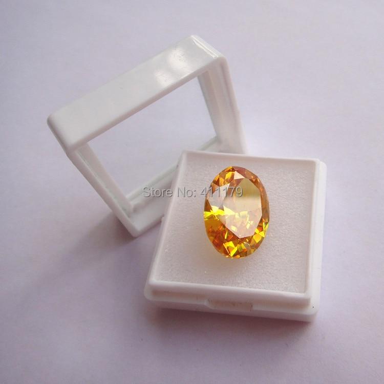 Wholesale Jewelry Packaging Display Gems Gemstone Cases Gia Gemstones Storage Box 28*28mm White