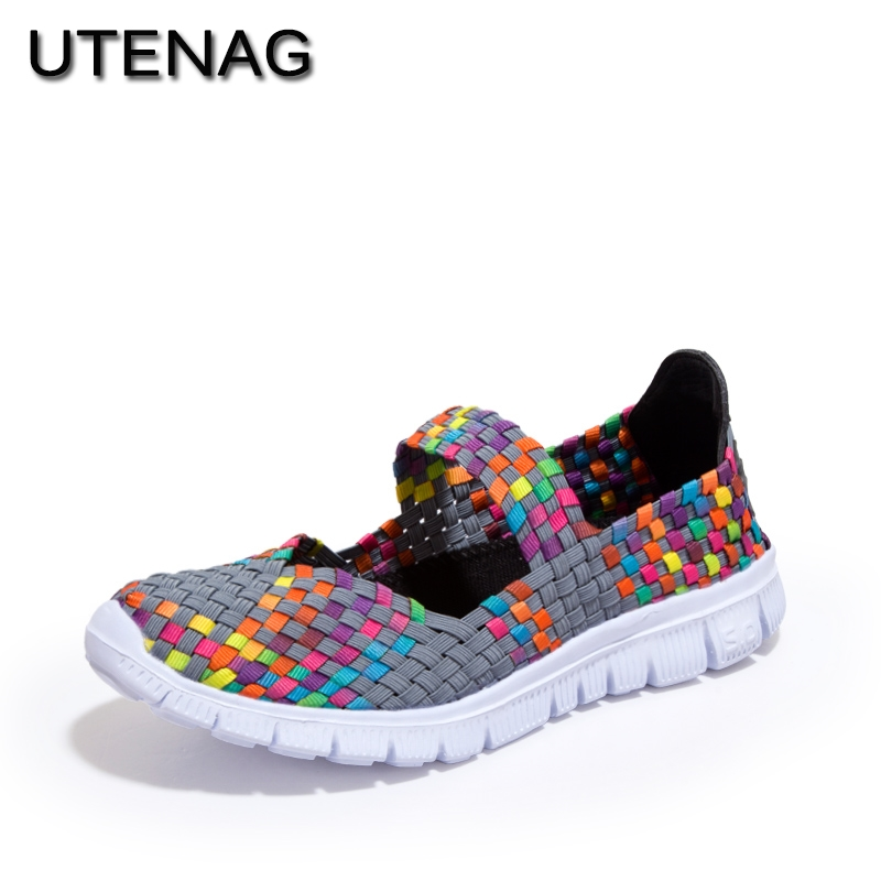 Women Casual Shoes 2018 Summer cool Breathable Handmade female Woven footwear Fashion Comfortable Lightweight Wovening sneakers women s shoes 2017 summer new fashion footwear women s air network flat shoes breathable comfortable casual shoes jdt103